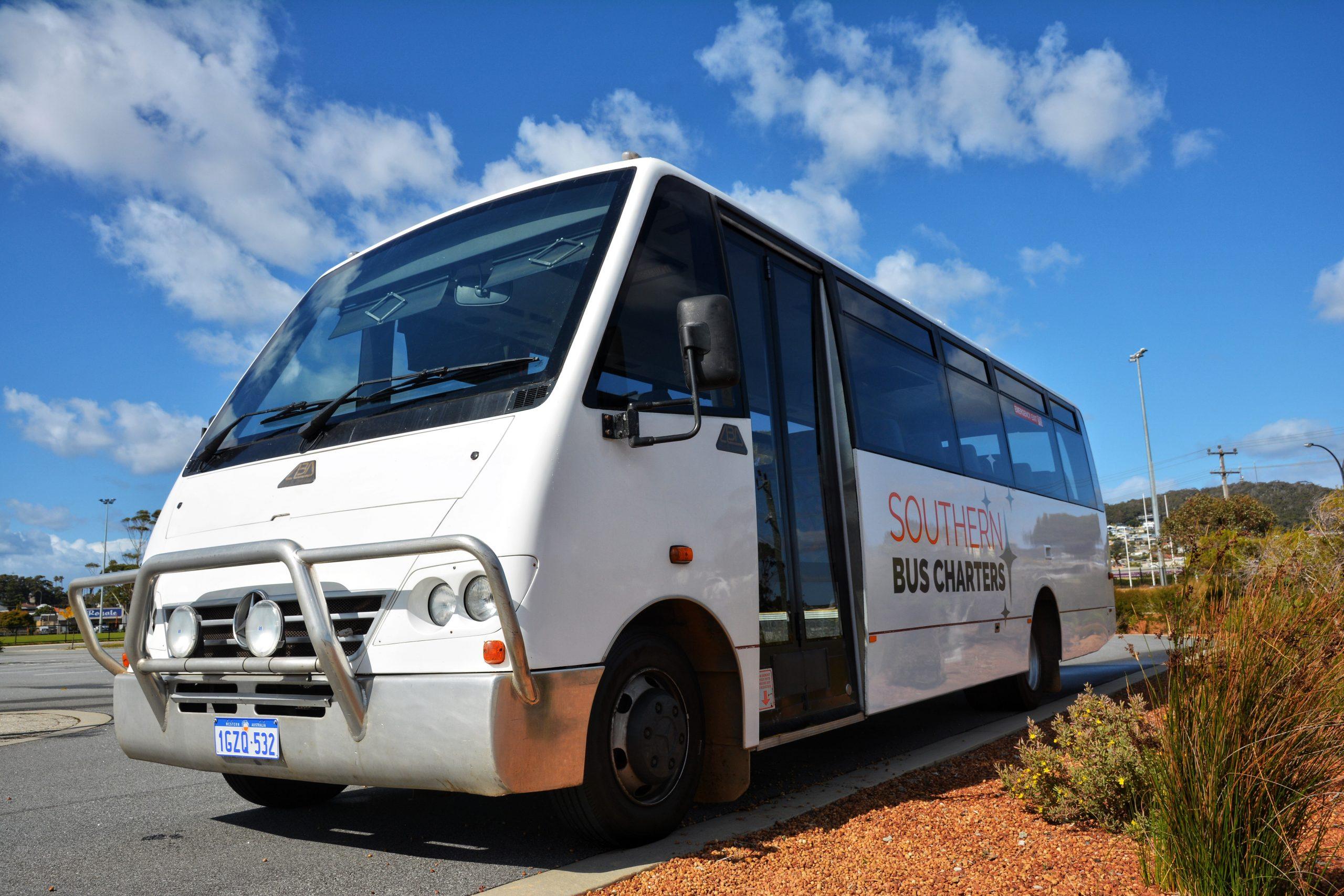 White Mercedes Vario Bus